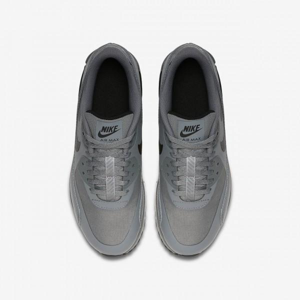 Nike Air Max 90 Ultra 2.0 Le Freizeitschuhe Jungen Grau Weiß Schwarz 459-14702