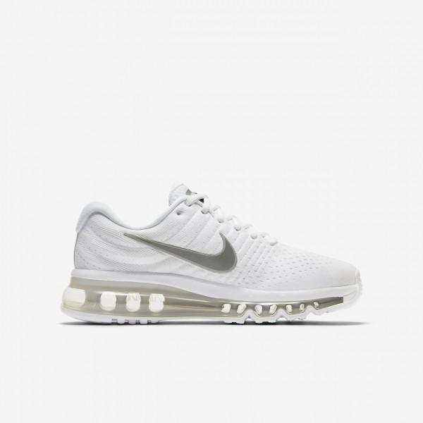 Nike Air Max 2017 Laufschuhe Jungen Weiß Metallic Silber 382-47765
