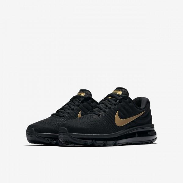 Nike Air Max 2017 Laufschuhe Jungen Schwarz Metallic Gold 835-65428