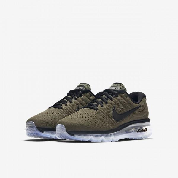 Nike Air Max 2017 Laufschuhe Jungen Khaki Schwarz 922-69781