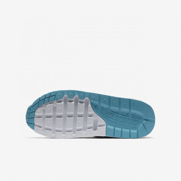 Nike Air Max 1 Freizeitschuhe Jungen Grau Hellblau Weiß 880-55691