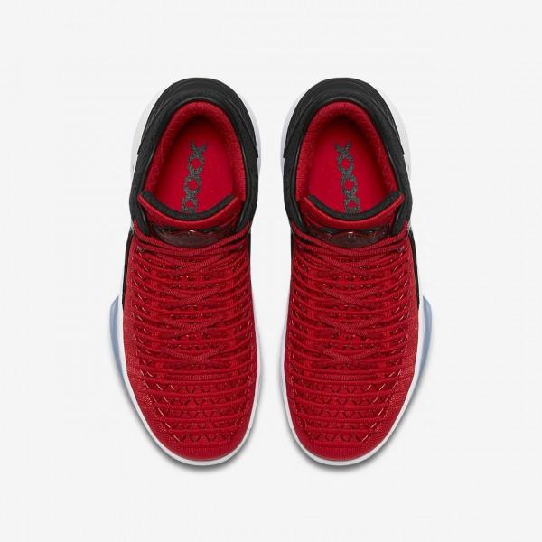 Nike Air Jordan XXXII low Basketballschuhe Jungen Rot Schwarz Weiß 672-15973