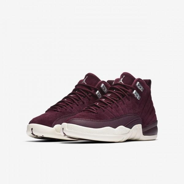 Nike Air Jordan Retro 12 Outdoor Schuhe Jungen Bordeaux Metallic Silber Weiß 974-39548
