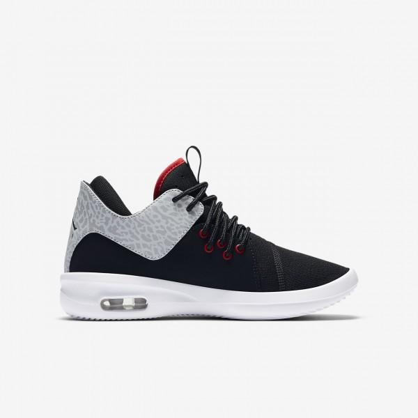 Nike Air Jordan First Class Freizeitschuhe Jungen Schwarz Weiß Silber Rot 608-38800