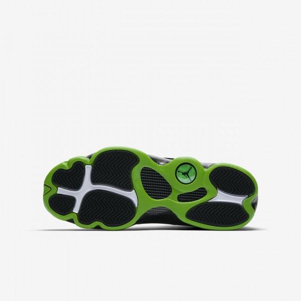 Nike Air Jordan 13 Retro Freizeitschuhe Jungen Schwarz Grün 114-81605