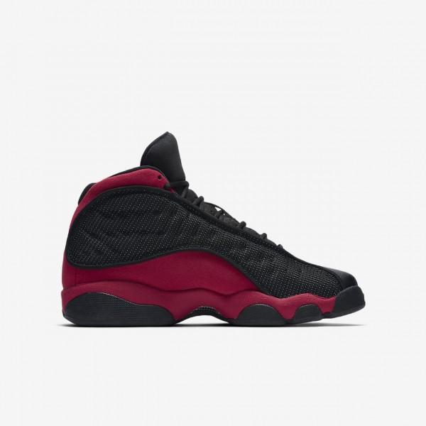 Nike Air Jordan 13 Retro Freizeitschuhe Jungen Schwarz Weiß Rot 100-74356