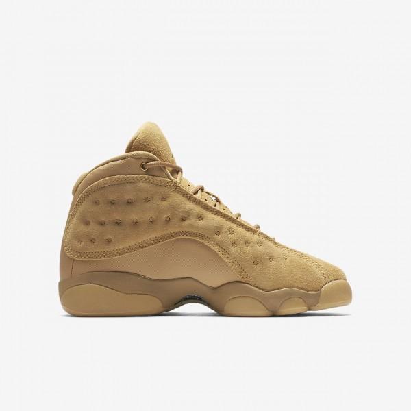 Nike Air Jordan 13 Retro Freizeitschuhe Jungen Gold Gelb Braun 850-37100