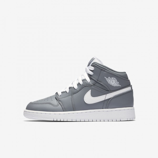Nike Air Jordan 1 Mid Outdoor Schuhe Jungen Grau W...
