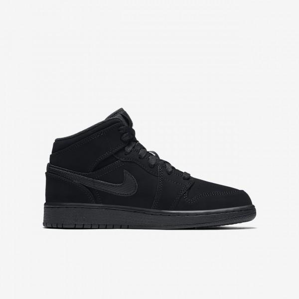 Nike Air Jordan 1 Mid Outdoor Schuhe Jungen Schwarz Weiß 278-13190