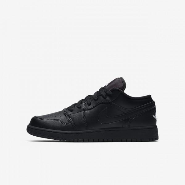 Nike Air Jordan 1 low Basketballschuhe Jungen Schw...