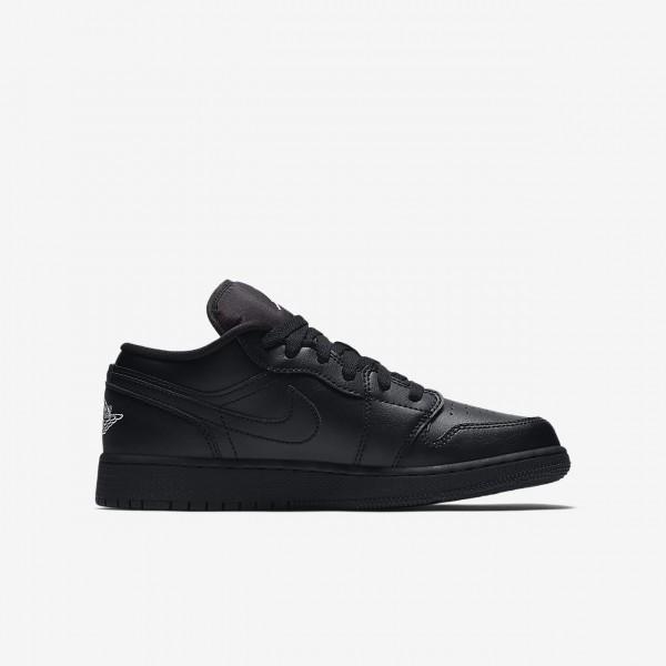 Nike Air Jordan 1 low Basketballschuhe Jungen Schwarz Weiß 659-79541