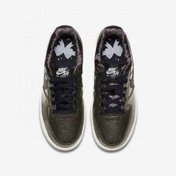 Nike Air Force 1 Pinnacle Qs Freizeitschuhe Jungen Schwarz Blau Weiß Silber 839-52077