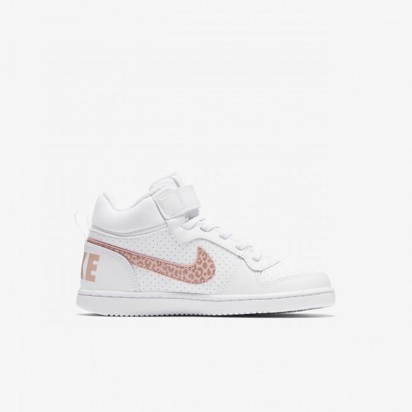 Nike Court Borough Mid Freizeitschuhe Mädchen Weiß Rosa Pink 185-73993