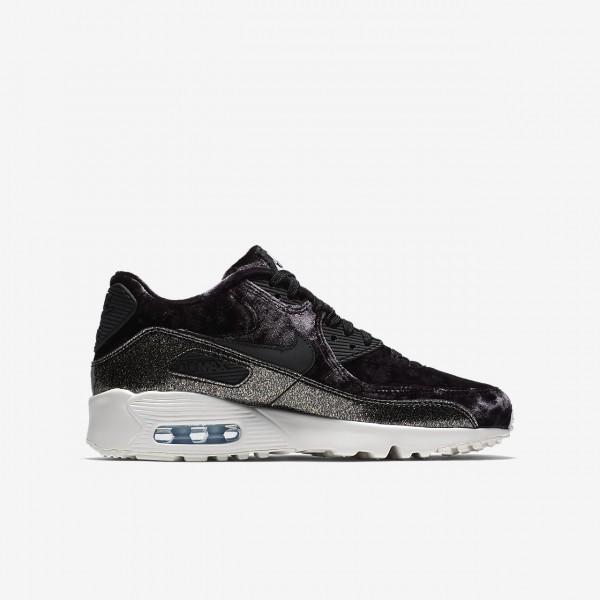Nike Air Max 90 Pinnacle Qs Freizeitschuhe Mädchen Schwarz Blau Weiß Silber 180-70202