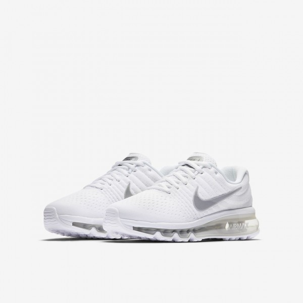 Nike Air Max 2017 Laufschuhe Mädchen Weiß Metallic Silber 484-12820