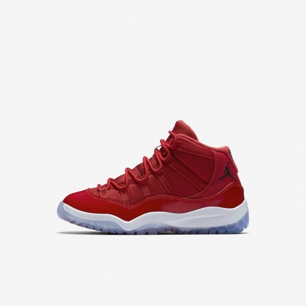 Nike Air Jordan XI Retro Three-quarter Outdoor Schuhe Mädchen Rot Weiß Schwarz 431-68083