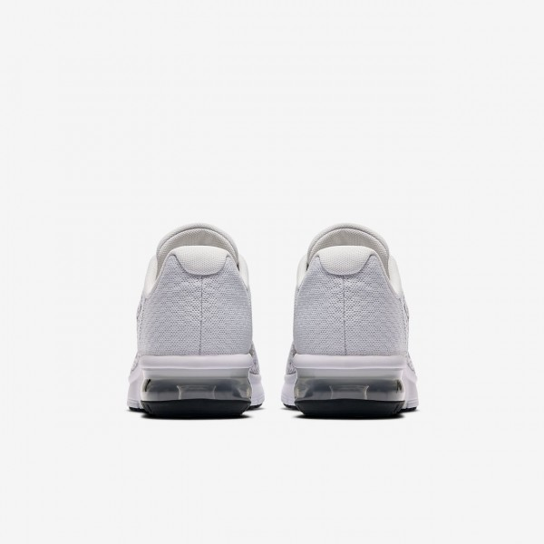 Nike Air Max Sequent 2 Laufschuhe Mädchen Platin Grau Schwarz 655-86572