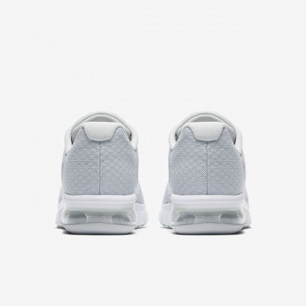 Nike Air Max Sequent 2 Laufschuhe Mädchen Platin Grau Metallic Platin Weiß 473-14052