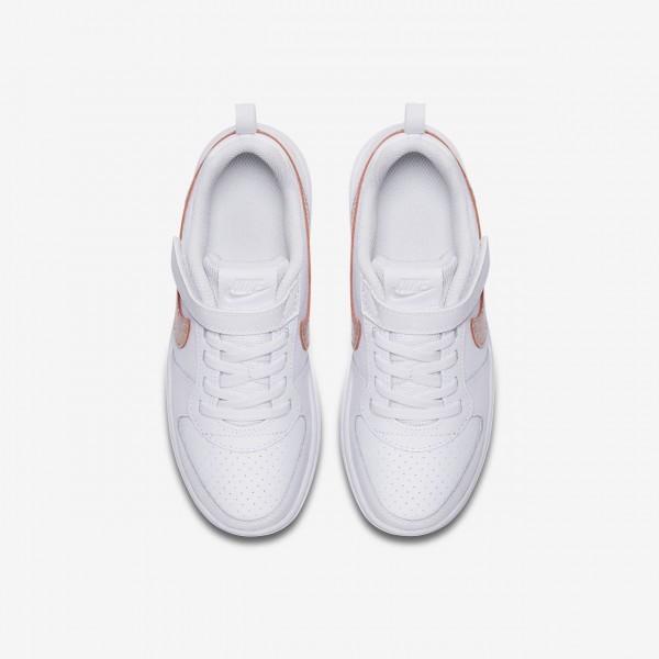 Nike Court Borough low Freizeitschuhe Mädchen Weiß Rosa Pink 194-76726