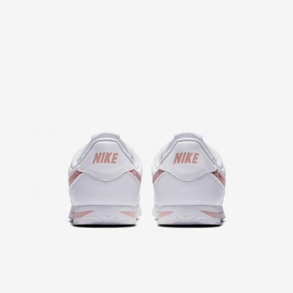 Nike Cortez Basic Sl Freizeitschuhe Mädchen Weiß Pink Rosa 596-30638