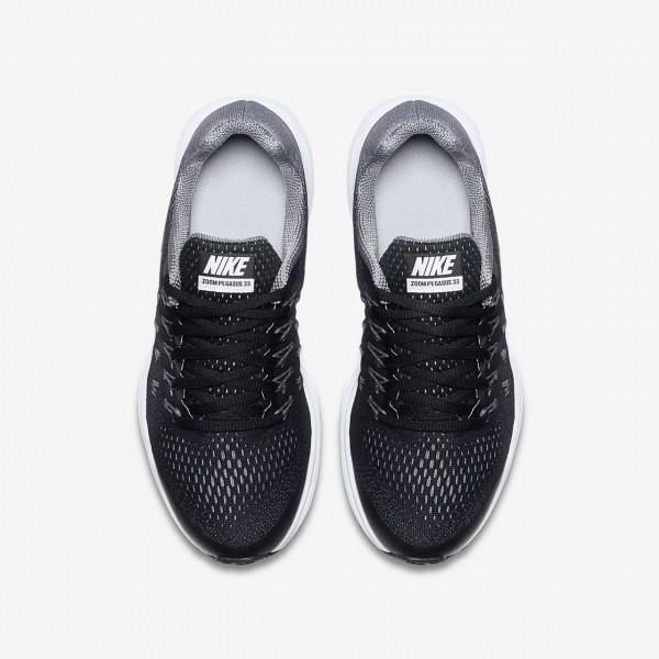 Nike Air Zoom Pegasus 33 Laufschuhe Mädchen Schwarz Grau Metallic Silber 900-69210