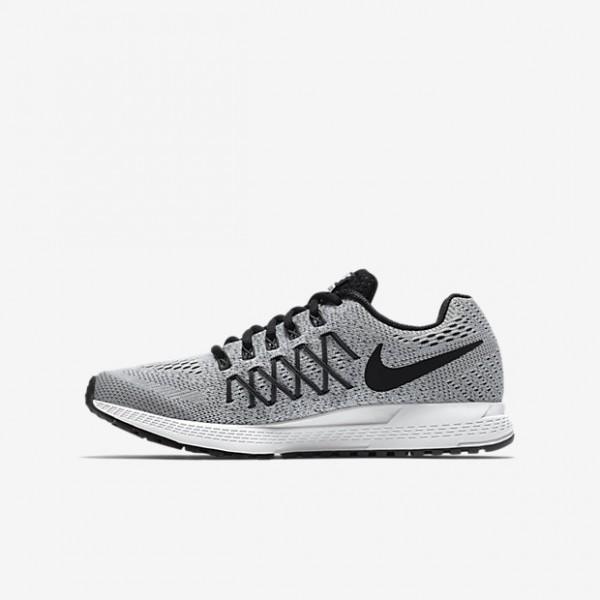 Nike Air Zoom Pegasus 32 Laufschuhe Mädchen Platin Dunkelgrau Schwarz 584-62399