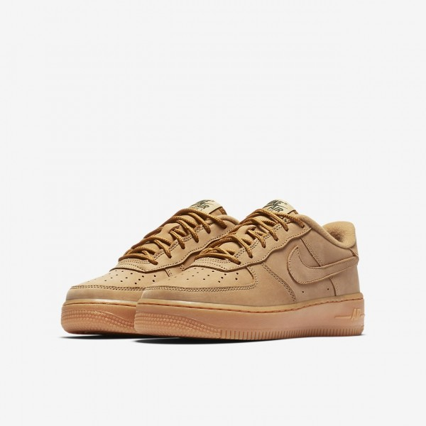 Nike Air Force 1 Winter Premium Freizeitschuhe Mädchen Grün Hellbraun 657-29878