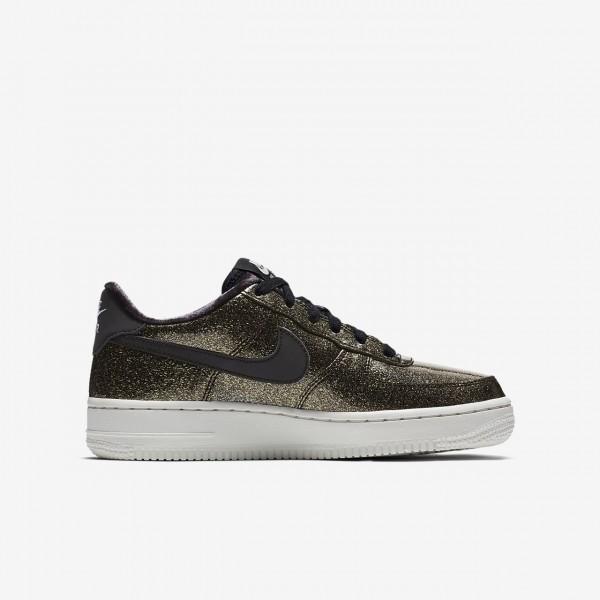 Nike Air Force 1 Pinnacle Qs Freizeitschuhe Mädchen Schwarz Blau Weiß Silber 593-17349