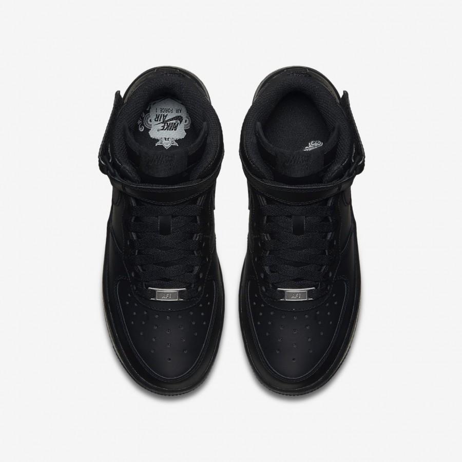 Jungen Schuhe Nike Air Force 1 Mid '06 Jungenschuh Schwarz