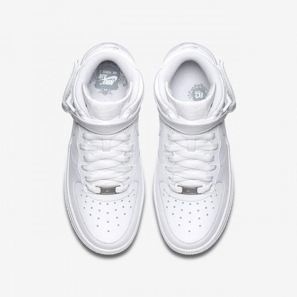 Nike Air Force 1 Mid 06 Freizeitschuhe Mädchen Weiß 189-23119