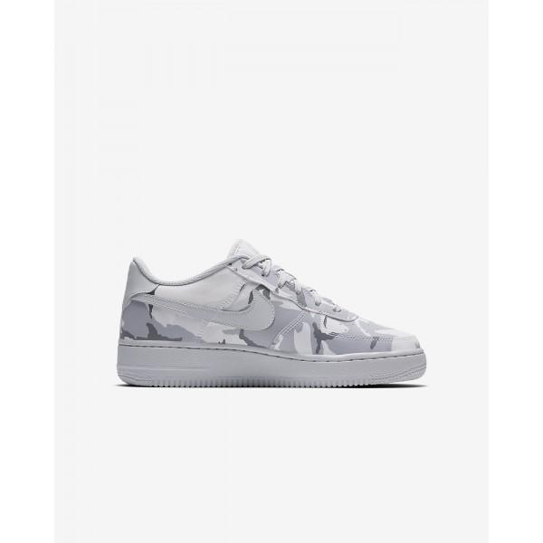 Nike Air Force 1 Lv8 Freizeitschuhe Mädchen Weiß Grau Platin 513-65321