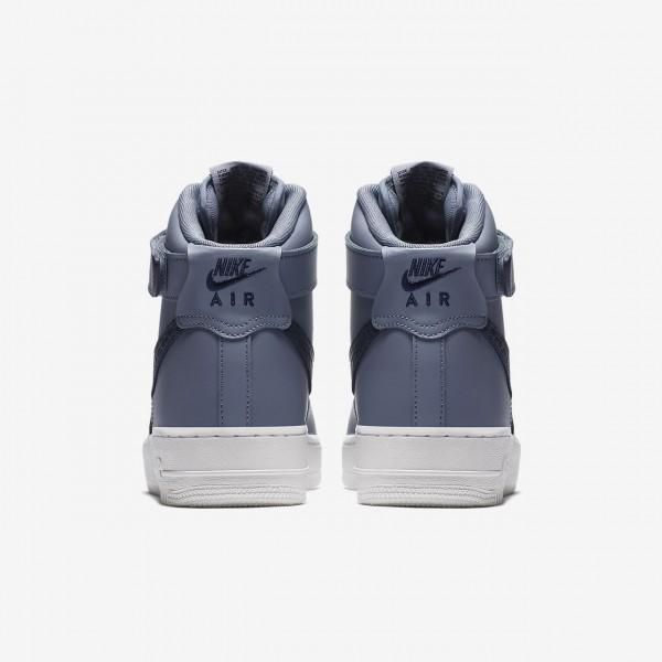 Nike Air Force 1 high 07 Lv8 Freizeitschuhe Herren Grau Weiß Blau Obsidian 513-42320