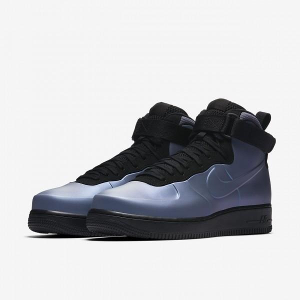 Nike Air Force 1 Foamposite Cupsole Freizeitschuhe Herren Hellgrau Schwarz 831-40247