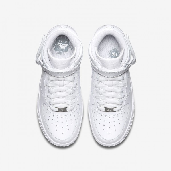 Nike Air Force 1 Mid 06 Freizeitschuhe Jungen Weiß 818-66567