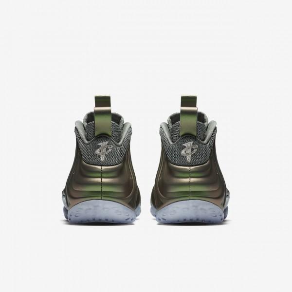 Nike Air Foamposite 1 Freizeitschuhe Damen Dunkelolive Schwarz 591-16650
