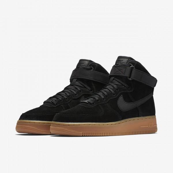 Nike Air Force 1 high Se Freizeitschuhe Damen Schwarz Braun 731-21741