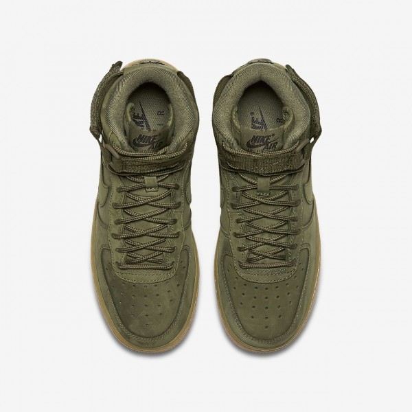 Nike Air Force 1 high Wb Freizeitschuhe Jungen Olive Hellbraun Schwarz 796-40831