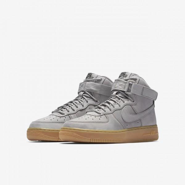 Nike Air Force 1 high Wb Freizeitschuhe Jungen Grau Schwarz Hellbraun 253-27071