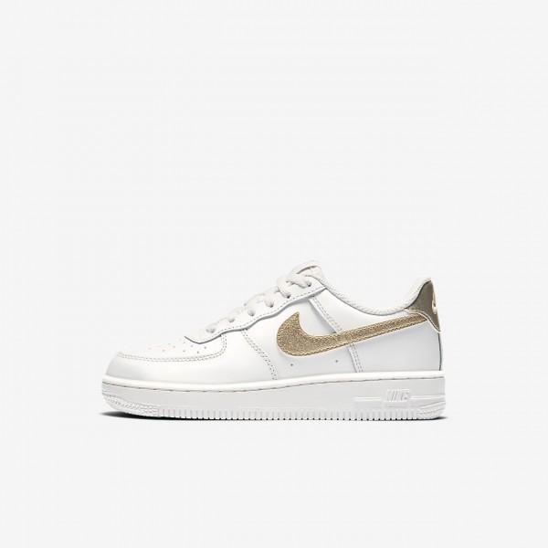 Nike Air Force 1 06 Freizeitschuhe Mädchen Weiß Metallic Gold 497-86971