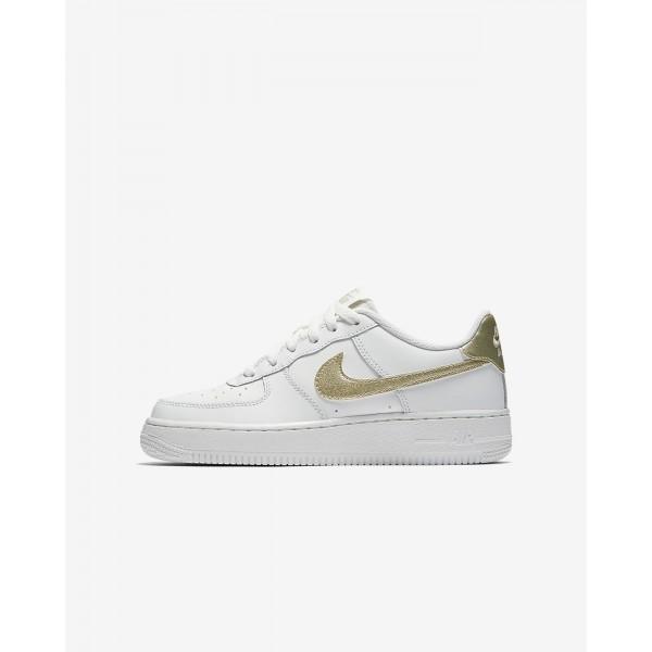Nike Air Force 1 06 Freizeitschuhe Mädchen Weiß Metallic Gold 314-16068