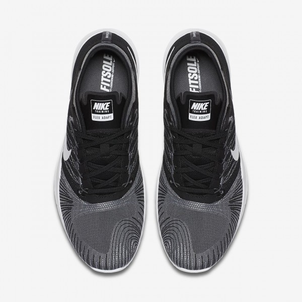 Nike Flex Adapt Tr Trainingsschuhe Damen Dunkelgrau Schwarz Weiß 256-62957