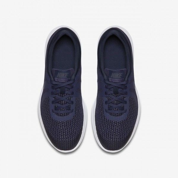 Nike Revolution 4 Laufschuhe Jungen Blau Obsidian Schwarz Weiß 260-31916