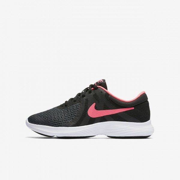 Nike Revolution 4 Laufschuhe Mädchen Schwarz Wei�...