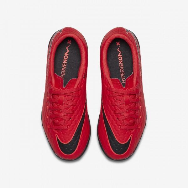 Nike Jr. Hypervenomx Phelon 3 Tf Fußballschuhe Jungen Rot Schwarz 168-47701