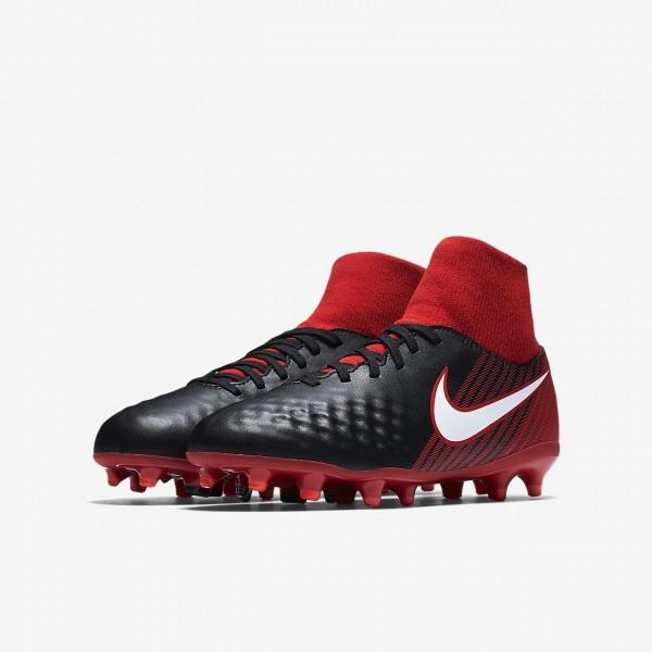 Nike Jr. Magista Onda II Dynamic Fit Fg Fußballschuhe Jungen Schwarz Rot Weiß 303-46877