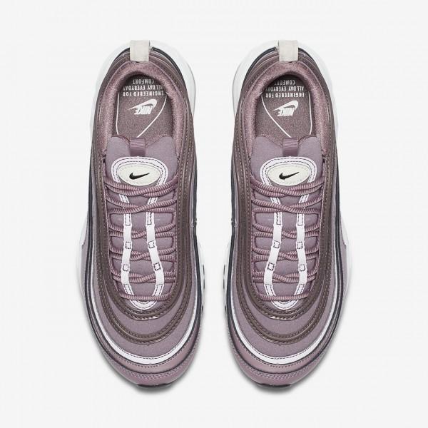 Nike Air Max 97 Premium Freizeitschuhe Damen Lila Silber Schwarz 181-92684