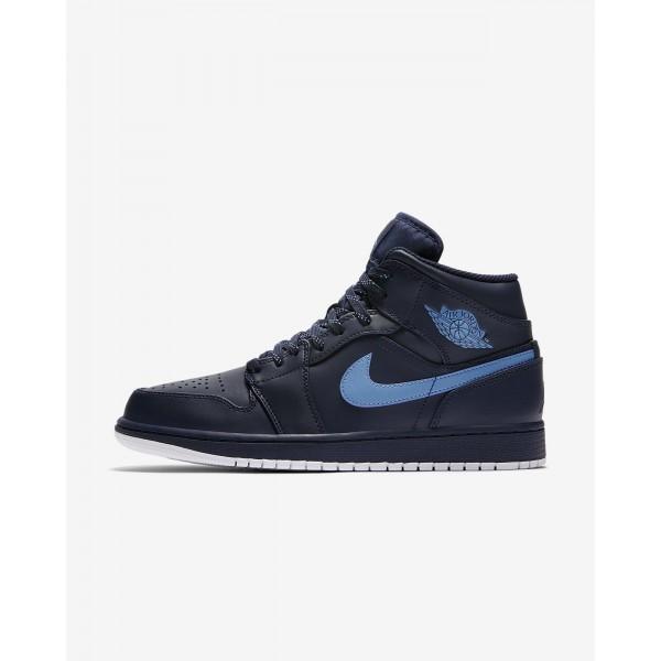 Nike Air Jordan 1 Mid Freizeitschuhe Herren Obsidi...