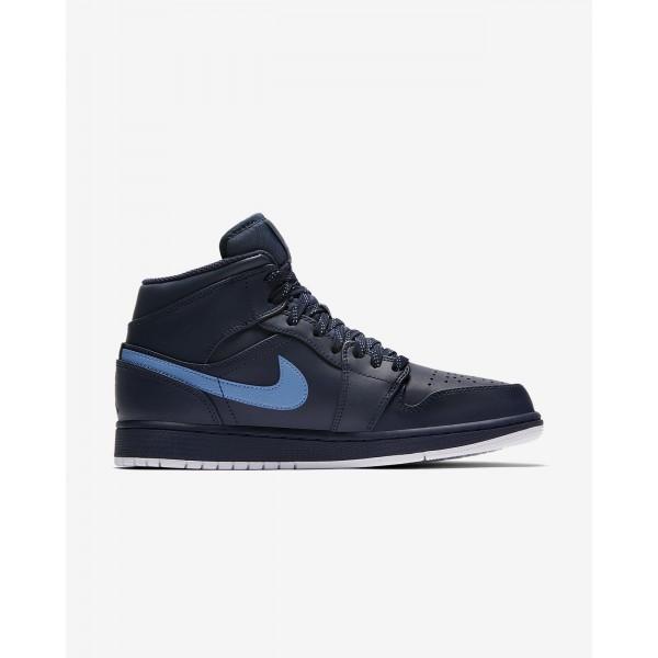 Nike Air Jordan 1 Mid Freizeitschuhe Herren Obsidian Weiß Blau 715-60172