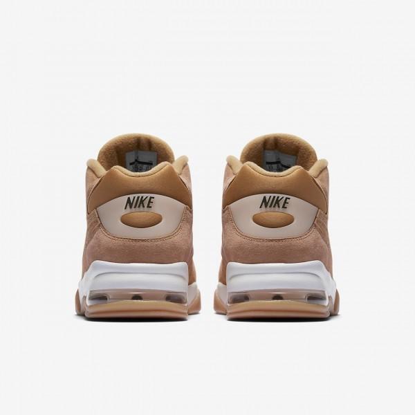 Nike Air Force Max Premium Freizeitschuhe Herren Weiß Hellbraun 668-68077