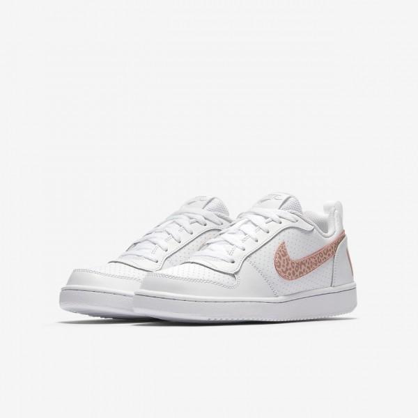 Nike Court Borough low Freizeitschuhe Mädchen Weiß Rosa Pink 225-56299